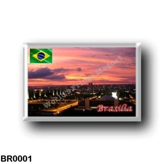 BR0001 America - Brazil - Brasília - by Night