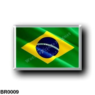 BR0009 America - Brazil - Brazílian Flag - Waving