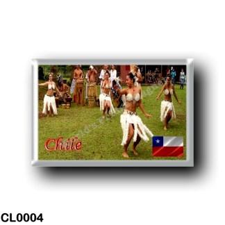 CL0004 America - Chile - Bailarinas de Isla de Pascua