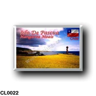CL0022 America - Chile - Isla De Pascua - Hangaroa Moais