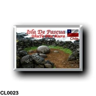 CL0023 America - Chile - Isla De Pascua - AhuTe Pito Kura