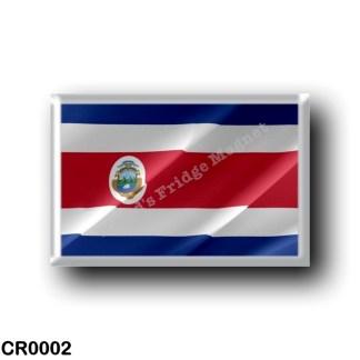 CR0002 America - Costa Rica - Costa Rican flag - waving