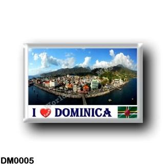 DM0005 America - Dominica - Roseau Wide - I Love