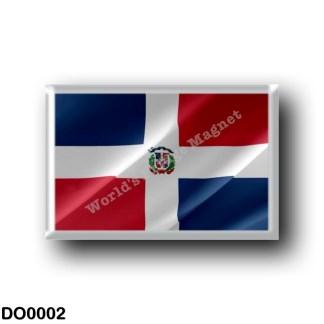 DO0002 America - Dominican Republic - Dominican flag - waving