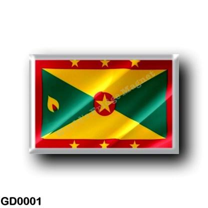 GD0001 America - Grenada - Flag Waving