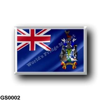 GS0002 America - South Georgia and the South Sandwich Islands - Flag Waving