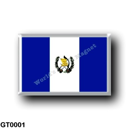 GT0001 America - Guatemala - Flag