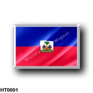 HT0001 America - Haiti - Haitian flag - waving