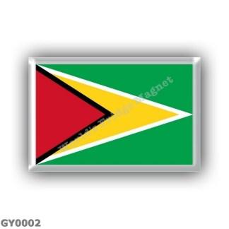 GY0002 America - Guyana - Flag