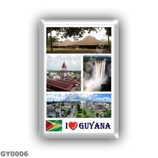 GY0006 America - Guyana - I Love