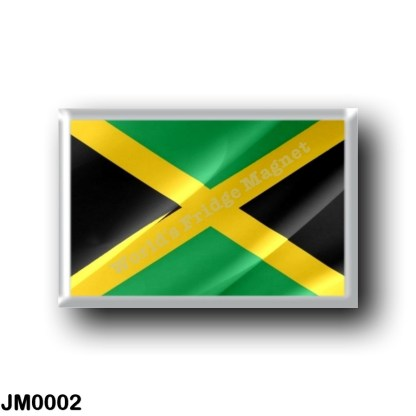 JM0002 America - Jamaica - Jamaican flag - waving