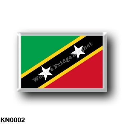 KN0002 America - Saint Kitts and Nevis - Flag