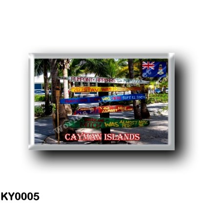 KY0005 America - Cayman Islands - Hurricane Signs Rum Point