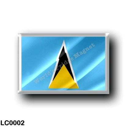 LC0002 America - Saint Lucia - Flag Waving