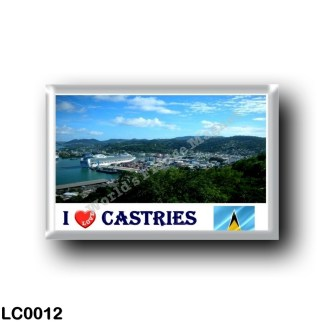 LC0012 America - Saint Lucia - Castries I Love