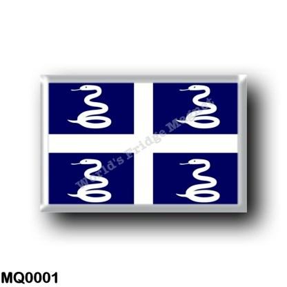 MQ0001 America - Martinique - Flag