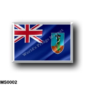 MS0002 America - Montserrat - Flag Waving