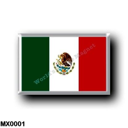 MX0001 America - Mexico - Mexican Flag