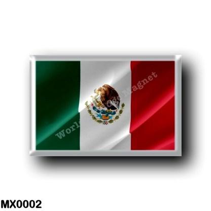 MX0002 America - Mexico - Mexican Flag - Waving
