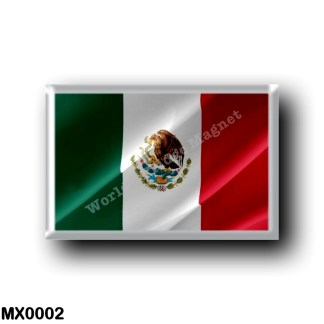 MX0002 America - Mexico - Mexican Flag - Waving