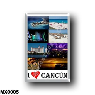 MX0005 America - Mexico - Cancun I Love