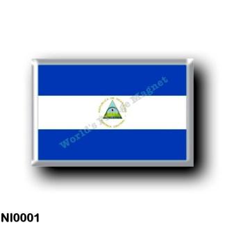 NI0001 America - Nicaragua - Nicaraguan flag