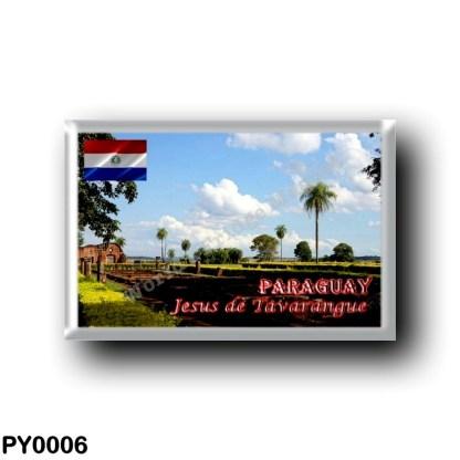 PY0006 America - Paraguay - Jesus de Tavarangue - Restos de Casas de Indigenas