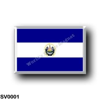 SV0001 America - el Salvador - Flag