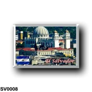 SV0008 America - el Salvador - A A Lo Lejos vi la Catedral Mtropolitana