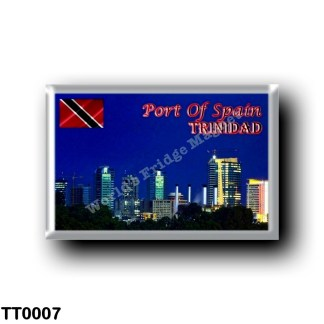 TT0007 America - Trinidad and Tobago - Port of Spain Night Skyline