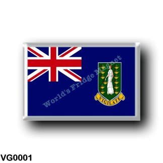 VG0001 America - British Virgin Islands - Flag