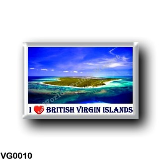 VG0010 America - British Virgin Islands - I Love