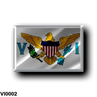VI0002 America - American Virgin Islands - Flag Waving