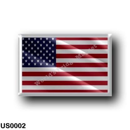 US0002 America - United States - US Flag - Waving