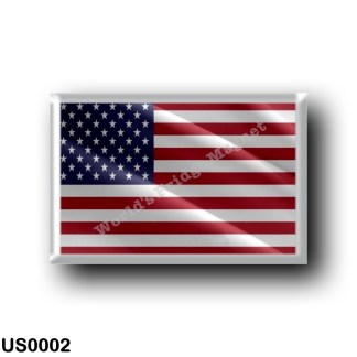 US0002 America - United States - US Flag - Waving