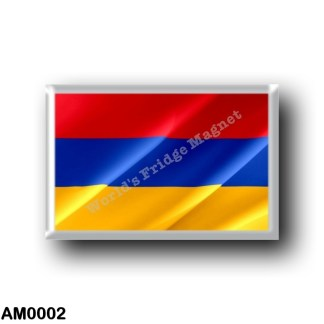 AM0002 Asia - Armenia - Armenian flag waving