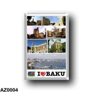 AZ0004 Asia - Azerbaijan - Baku - I Love
