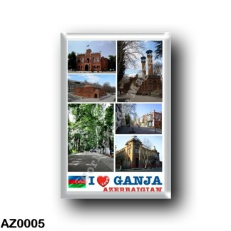 AZ0005 Asia - Azerbaijan - Ganja - I Love