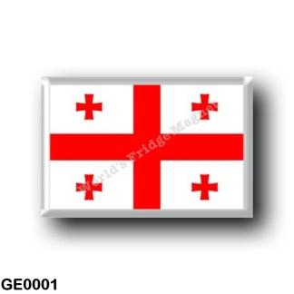 GE0001 Asia - Georgia - Flag