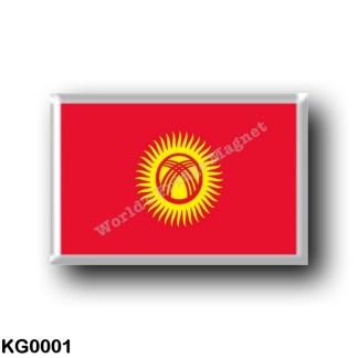 KG0001 Asia - Kyrgyzstan - Flag