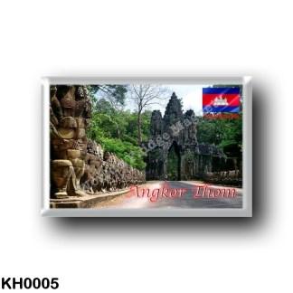 KH0005 Asia - Cambodia - Angkor Thom - South Gate