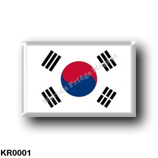 KR0001 Asia - South Korea - Flag