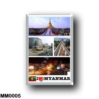 MM0005 Asia - Myanmar Burma - Myanmar - I Love