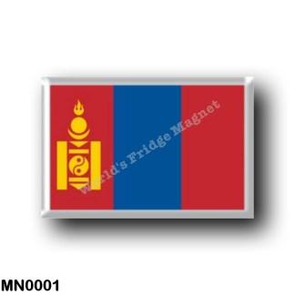 MN0001 Asia - Mongolia - Flag