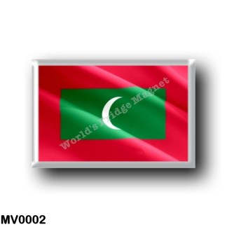 MV0002 Asia - Maldives - Flag Waving
