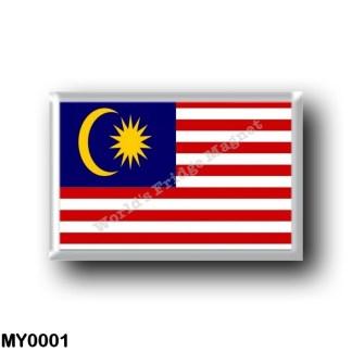 MY0001 Asia - Malaysia - Flag