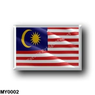MY0002 Asia - Malaysia - Flag Waving
