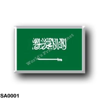 SA0001 Asia - Saudi Arabia - Flag