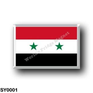 SY0001 Asia - Syria - Flag
