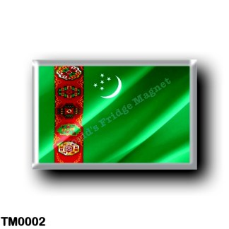 TM0002 Asia - Turkmenistan - Flag Waving